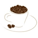 café express de cuvette de café Image stock