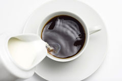 café express de cuvette de coffe Photographie stock libre de droits