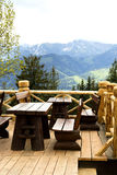 Café in the mountains Stock Images