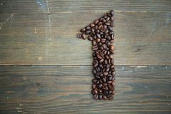 Café número um Fotografia de Stock Royalty Free