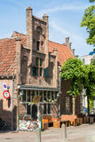 Café no quadrado de Groenmarkt em Amersfoort, Países Baixos Fotos de Stock