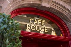 Café-Rouge in Bedecken-St. Edmunds Lizenzfreies Stockfoto