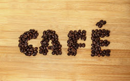 Café type Coffee beans of top view Royalty Free Stock Image