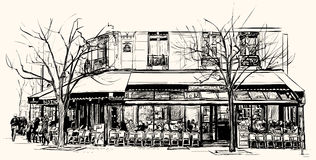 Café velho em Paris Imagem de Stock Royalty Free