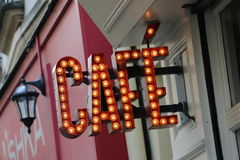 Café w Paris Fotografia Royalty Free