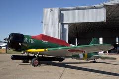 CAF WWII飞行表演在达拉斯行政机场 库存照片