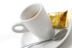 Café y galleta del café express Imagen de archivo