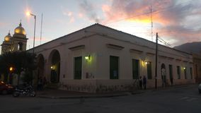 Cafayate萨尔塔阿根廷好极了大厦 免版税库存照片