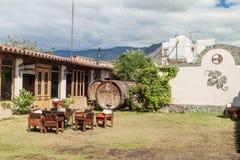 Free CAFAYATE, ARGENTINA - AUG 6, 2015: Garden Of Winery Bodega Nanni In Cafayat Royalty Free Stock Images - 131472639
