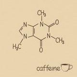 cafeína stock de ilustración