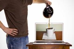 Cafeína de la comunicación imagen de archivo