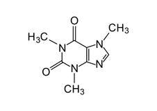 cafeïne chemische formule royalty-vrije stock afbeelding