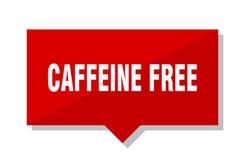 Cafeïne vrije rode markering royalty-vrije illustratie