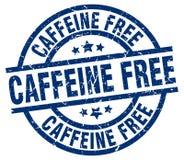 Cafeïne vrije zegel stock illustratie