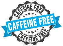 Cafeïne vrije zegel verbinding vector illustratie