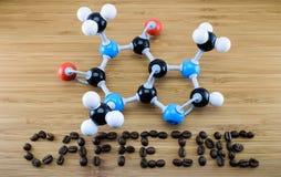 Cafeïnemolecule Stock Fotografie
