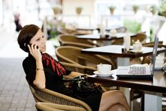 In a cafe royalty free stock image