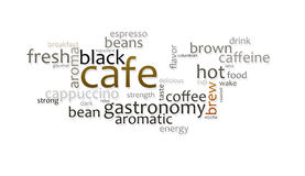 Cafe. An illustration of a nice abstract background tag cloud cafe Stock Image