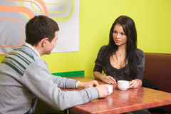 In cafe stock image