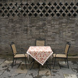 Cafe. A table belonging to a teahouse in Chengdu Stock Photos