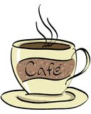 Cafe 2. Coffee cup illustration drawn in illustrator Royalty Free Illustration