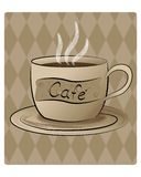 Cafe. This image was drawn in Adobe Illustrator then imported into Photoshop Stock Photography
