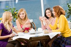 In the cafe Stock Photos