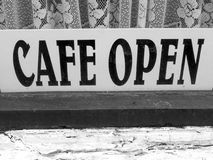 Cafe. Sign Royalty Free Stock Photo