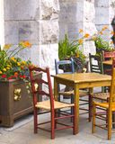 Cafe. Quaint little cafe in Montreal's old town Royalty Free Stock Images