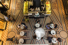 Cafe from above Royalty Free Stock Images