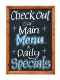 Cafe advertisement sign Stock Photography