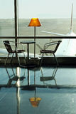 Cafe at the airport Royalty Free Stock Images