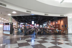 Cafe in the airport departure hall Stock Image