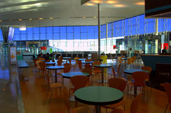 Cafe in airport terminal Royalty Free Stock Images