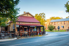 Cafe Assiette on Main street of Hahndorf. Hahndorf, South Australia - April 9, 2017: Cafe Assiette on Main street of Hahndorf in Adelaide Hills area during Royalty Free Stock Photo