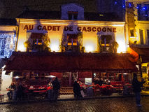 Cafe Au Cadet de Gascogne 4993, Paris, France, 2012 Royalty Free Stock Images