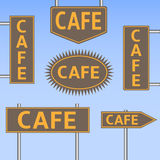 Cafe banners Stock Image