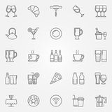 Cafe and bar icons Stock Images