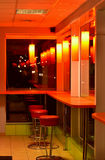 Cafe bar interior night scene Royalty Free Stock Photo