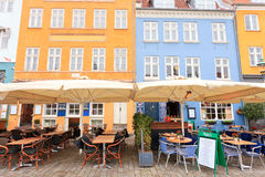 Cafe Bar Nyhavn Royalty Free Stock Images