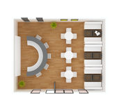 Cafe bar restaurant floor plan Stock Photos