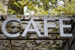 Cafe Bar sign Stock Images