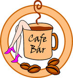 Cafe Bar Sign Royalty Free Stock Images