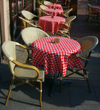 Cafe bar tables and chairs Royalty Free Stock Photos