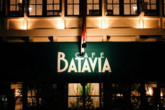 Cafe Batavia at night Royalty Free Stock Photos