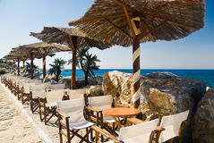 Cafe on a Beach royalty free stock photo