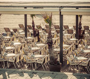 Cafe Beach Barcelona. Catalonia, Spain Royalty Free Stock Photos