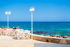 Cafe on the beach. Royalty Free Stock Images