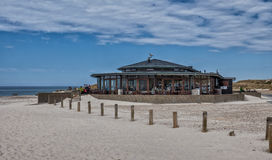 Cafe on the beach in Henne at the Danish North Sea Coast Stock Images
