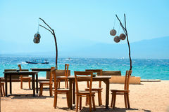 Cafe on the beach Royalty Free Stock Photo